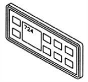 Panel: 1989-1991 724 Series Control Panel