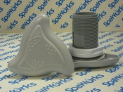 "100792 Air Control: Triangular 1"" Light Grey, Long"