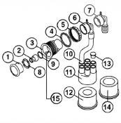 "6541-674 Jet Wall Fitting (Grey): Select-A-Sage ""Twist Lock"" Jet (1990-1997)"