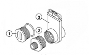 "6540-244 Adapter: SUNDANCE® Drain Valve Assembly .75"" MHT x 1.5"" MIPT (up to 2003)"