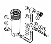 6540-941 Suction Fitting: Return System (1993-1995)