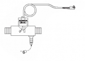 2560-040 Flow Switch with Clear Tee Fitting