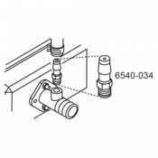 6540-034: Adapter, MPT 1/8 x 3/8 Barb (New metal version)