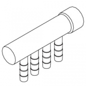 Manifold: Air 4 Barb 3/8in x 1