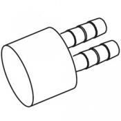 Manifold: Air 2 Barb 3/8in x 1